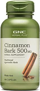 GNC Herbal Plus Cinnamon Bark 500mg, 100 Capsules
