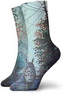HADIHADI, My Neighbor Totoro Antílope de dibujos animados Avatar para hombre y mujer, pies sensibles, calcetines y calcetines deportivos de algodón