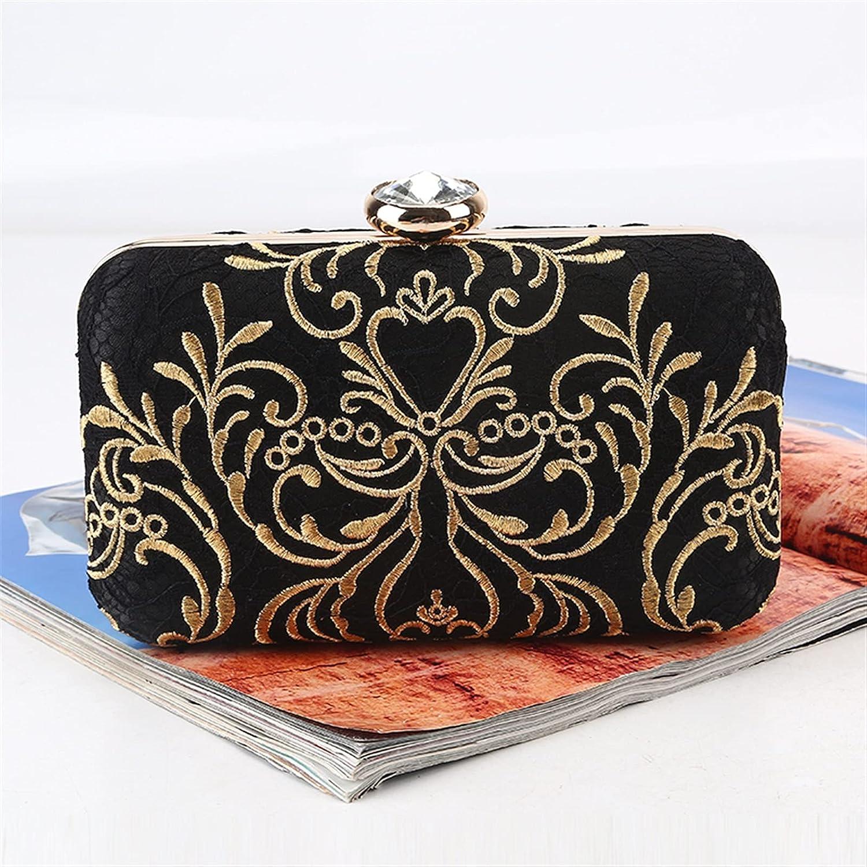 ATHH Embroidery Clutch,Fashion Wedding Clutch Bag Party Purse and Handbag Women's Evening Bag