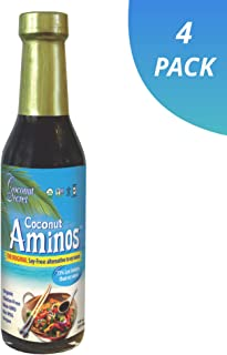 Coconut Secret Coconut Aminos (4 Pack) - 8 fl oz - Low Sodium Soy Sauce Alternative, Low-Glycemic - Organic, Vegan, Non-GMO, Gluten-Free, Kosher - Keto, Paleo - 192 Total Servings
