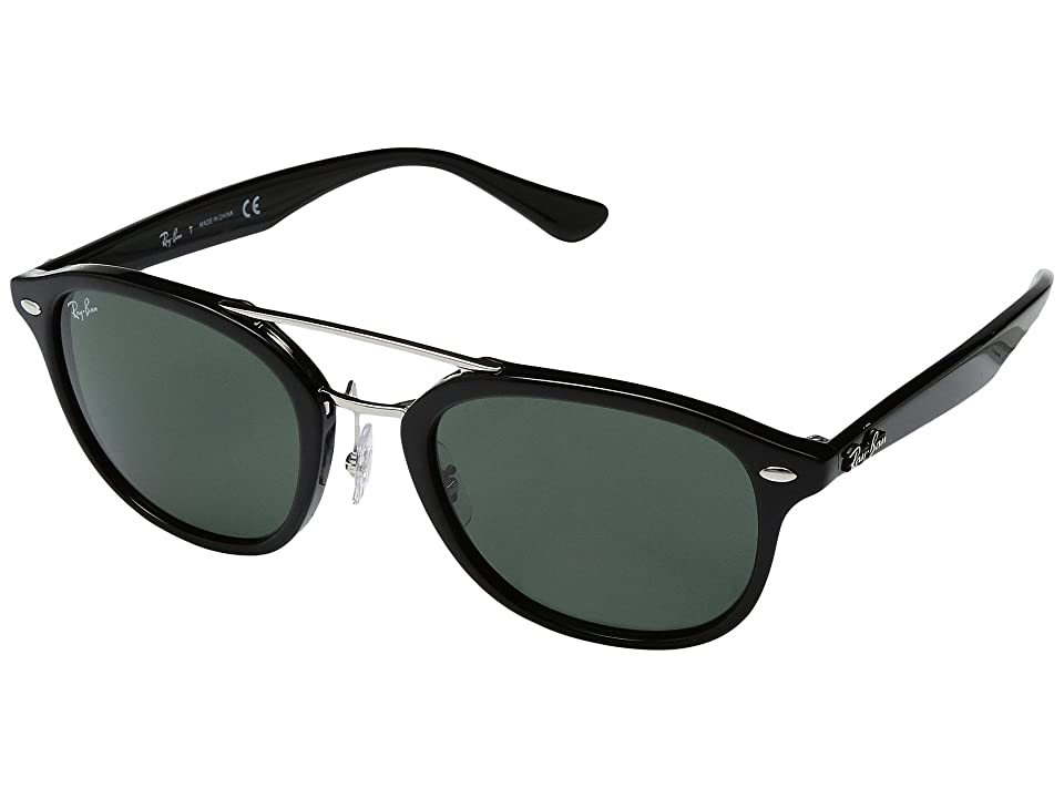 Ray-Ban 0RB2183 53mm (Black Frame/Dark Green Lens) Fashion Sunglasses