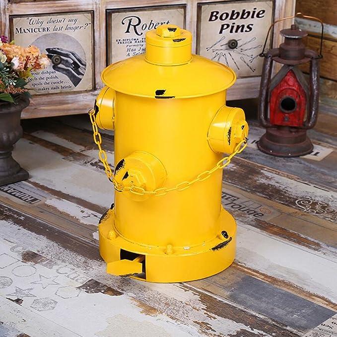 WAWZJ Cestini da bagno American Vintage Rifiuti Industriali Vento Vecchio Idrante Pedale.,Black