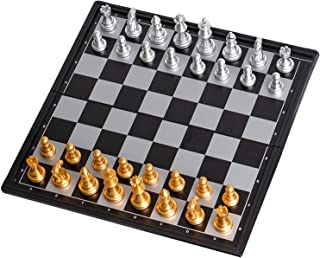 Collapsible Game Chess Set - Contains Chess Pieces and Chess Board, Two More Queens are Given - The Bottom of The Chess Pi...