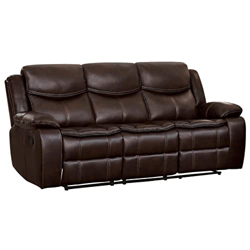 Reclining Leather Sofa: Amazon.com
