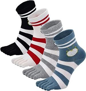 Womens Toe Socks Fun Novelty Cotton Five Finger Running Trainer Crew Socks