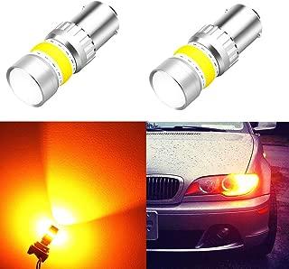 Alla Lighting 1156 LED Turn Signal Light Bulbs 2800lm Xtreme Super Bright BA15S 7506 1156 LED Bulbs High Power COB 72-SMD LED 1156 Bulbs for Turn Signal Light Lamp Replacement, Amber Yellow
