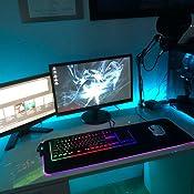 gen/ähte Kante 900 x 300 x 3 mm blau Mauspad gro/ß mit glatter Oberfl/äche dick rutschfeste Gummibasis YISK Gaming-Mauspad gro/ß