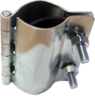 LASCO 13-1253 2 Bolt Metal Hinged Type Pipe Repair Clamp with Bolts, 3/4-Inch