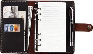 CEETOL システム手帳 本革ノート 職人 手作り A6 6穴 ペンホルダー 付 本革 ビジネスノート スケジュール帳