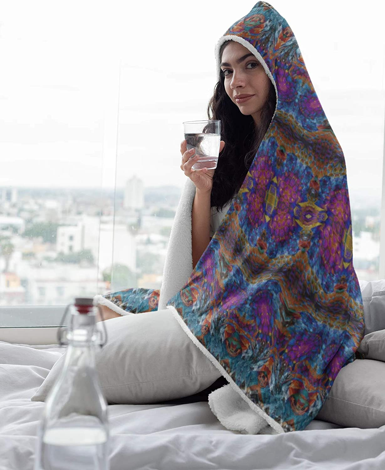 Lucid Dreams Premium Hooded Max Max 71% OFF 69% OFF Blanket with Straps P Wrist Plush