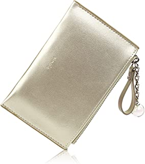 Small Wallets for Women Slim Leather Card Case Holder Cute Change Purse for Girls with ID Window