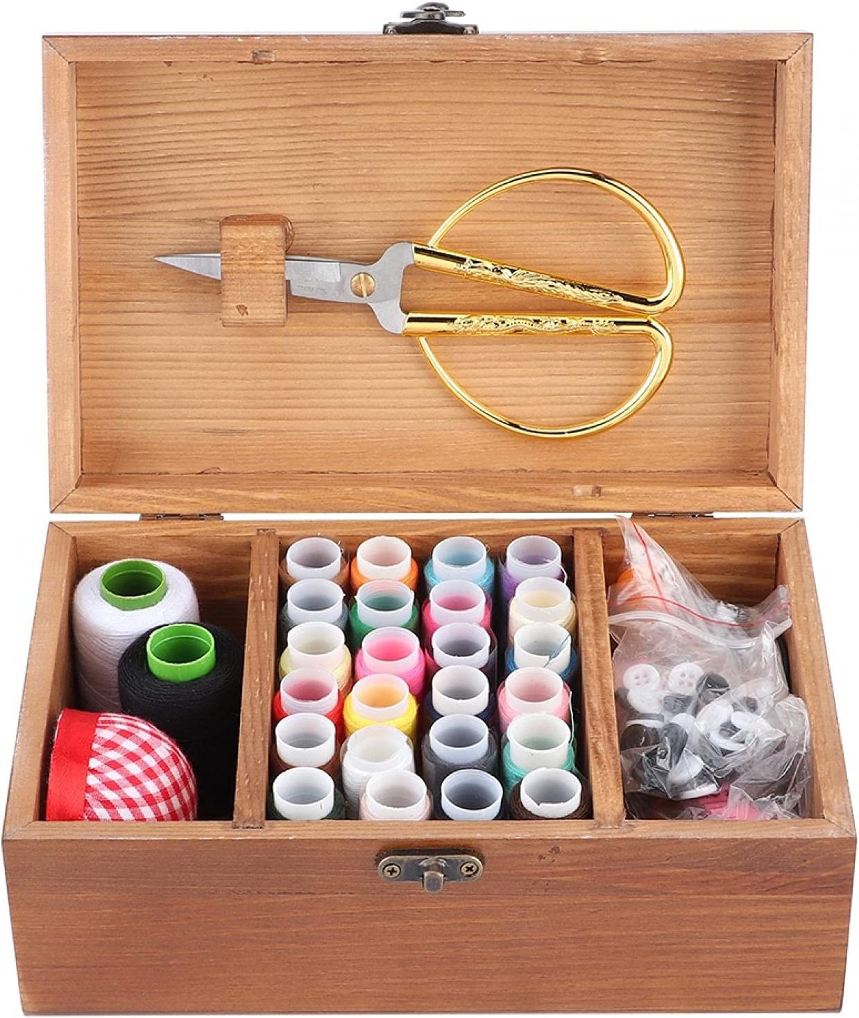 Sewing Box All stores are sold Household Vintage Ranking TOP3 Needle Wooden Thread St