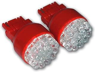 TuningPros LED-3156-R19 3156 LED Light Bulbs, 19 LED Red 2-pc Set