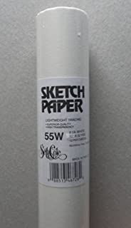 White Sketch Tracing Paper 12 Inch X 50 Yard Roll
