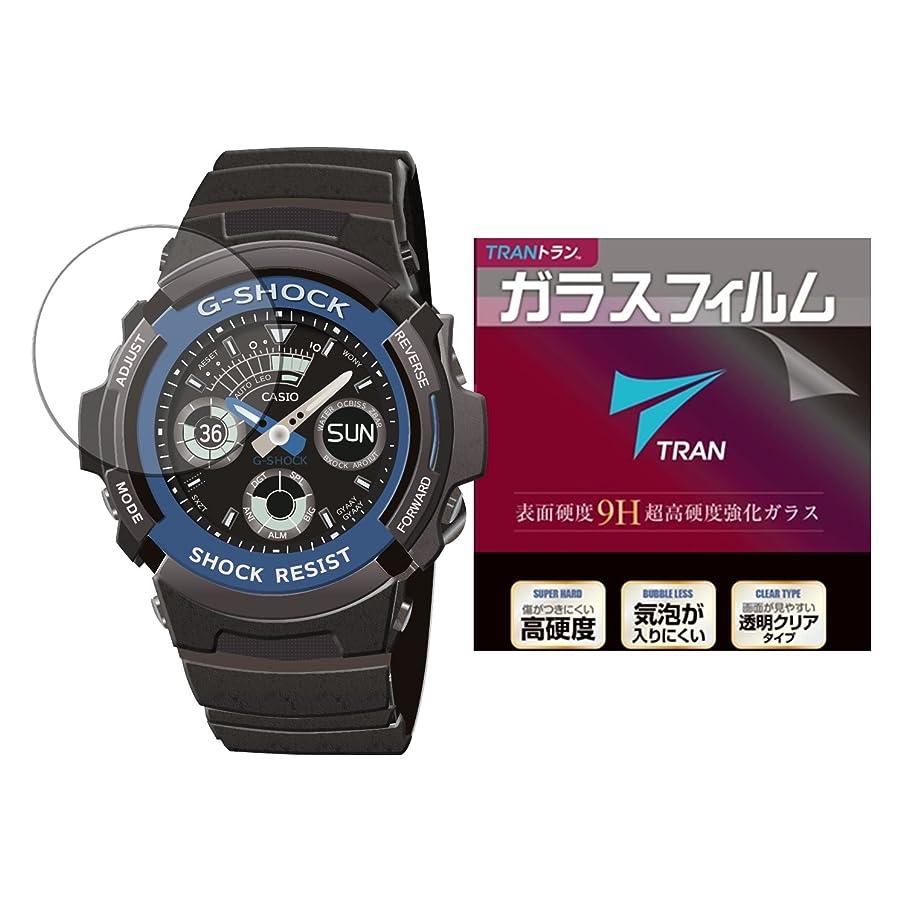 TRAN(トラン)(R) CASIO 腕時計 G-SHOCK ジーショック 対応 高硬度アクリルコート 気泡が入りにくい 透明クリアタイプ for CASIO G-SHOCK AW-591-2AJF他 (ガラスフィルム)