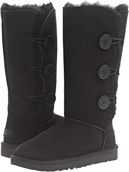 ea6e5789fe6 Ugg bailey button triplet black sheepskin + FREE SHIPPING | Zappos.com