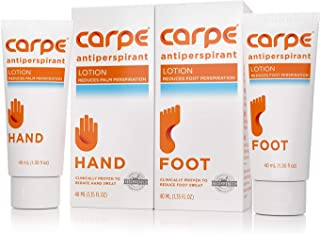 Carpe Antiperspirant Hand and Foot Lotion Package Deal (1 Hand and 0.3m Tube - Save 17%), Stop Sweaty Hands and Sweaty, Sm...