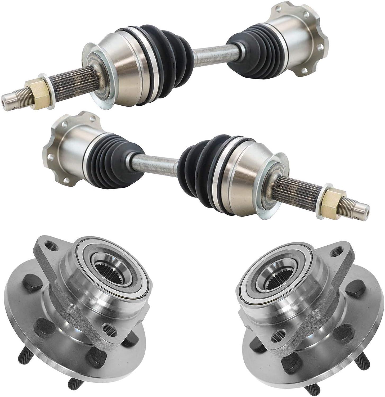 TRQ 4 Piece Steering Superlatite Kit CV Super sale period limited Axle Hub Bearing Wheel Shafts Asse
