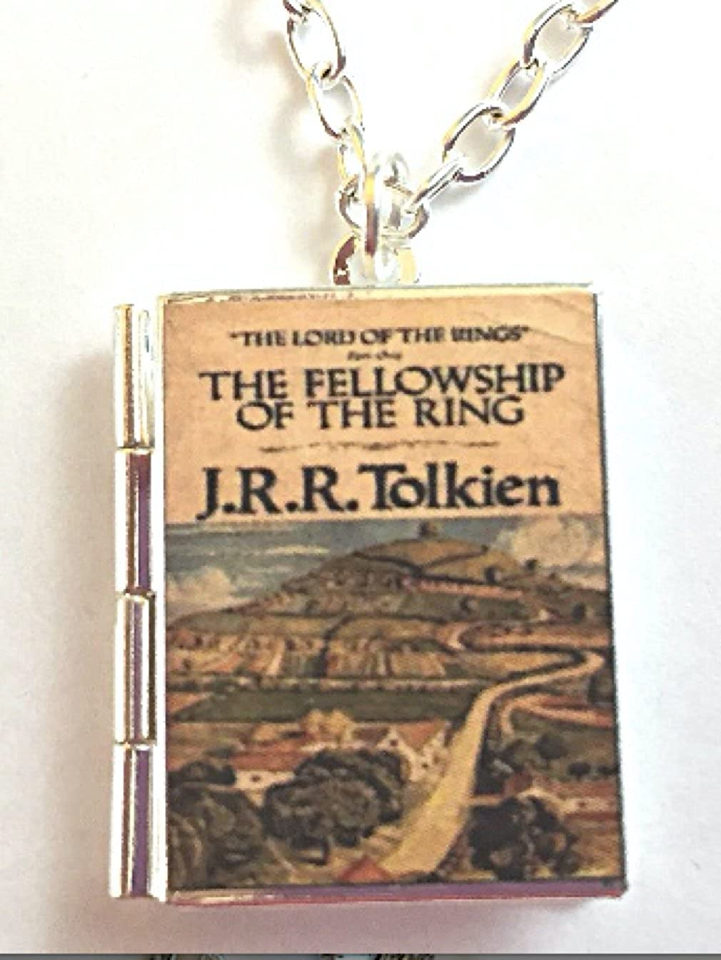 New Free Shipping Fellowship of The Ring Book Finish Cover Save money Locket Silver