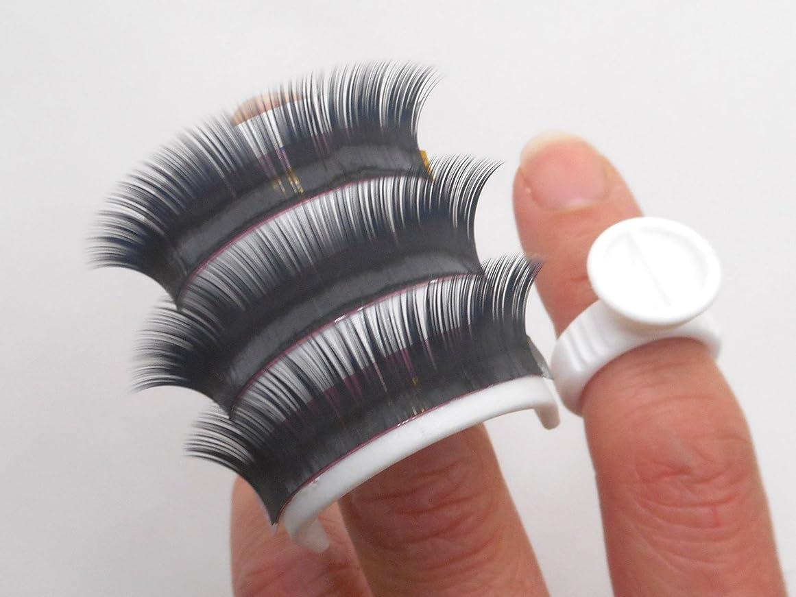 たくさんの爆発閃光アイラッシュ まつげエクステ リング ホルダー 1セット 2個入り + グルーリング 100個 セット プラスチック製 Eyelash Extension Glue Ring holder
