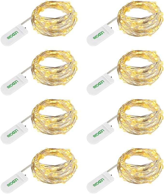 4318 opinioni per LEDGLE 24 LEDs Luci Stringa 3.9ft Fili Rame Bianco Caldo per Decorativi 8 Pezzi,