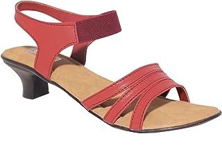 HEROSHOELINE Synthetic Leather Heels Sandals for Women's