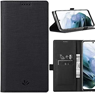 DLHLLC Samsung Galaxy S21 Plus 5G Flip Case,Premium Flip Leather Wallet Case Stand Kickstand Card Slot Magnetic Full Body ...