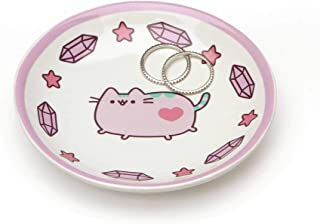 """Pusheen by Our Name is Mud """"Pusheen Purple Trinket Tray"""" Stoneware Dish, 4 Inches"""