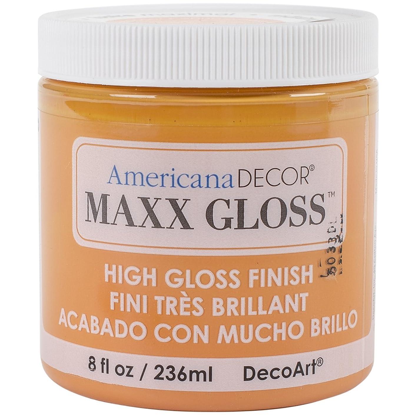 DecoArt Maxx Gloss Acrylic Paint, 8 oz, Orange Slice