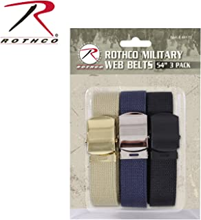 Military Web Belts (3 Pack), 54''