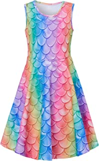 rainbow mermaid dress