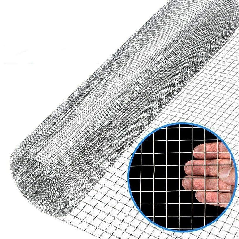 Arin Shop Wire Fence Mesh 48'' x 50' 1/2inch Wire Fence Mesh Cage Roll Garden 19 Gauge Galvanized Wire