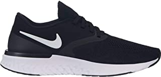 Nike Women's Odyssey React Flyknit 2 Running Shoes (6.5, Black/White)