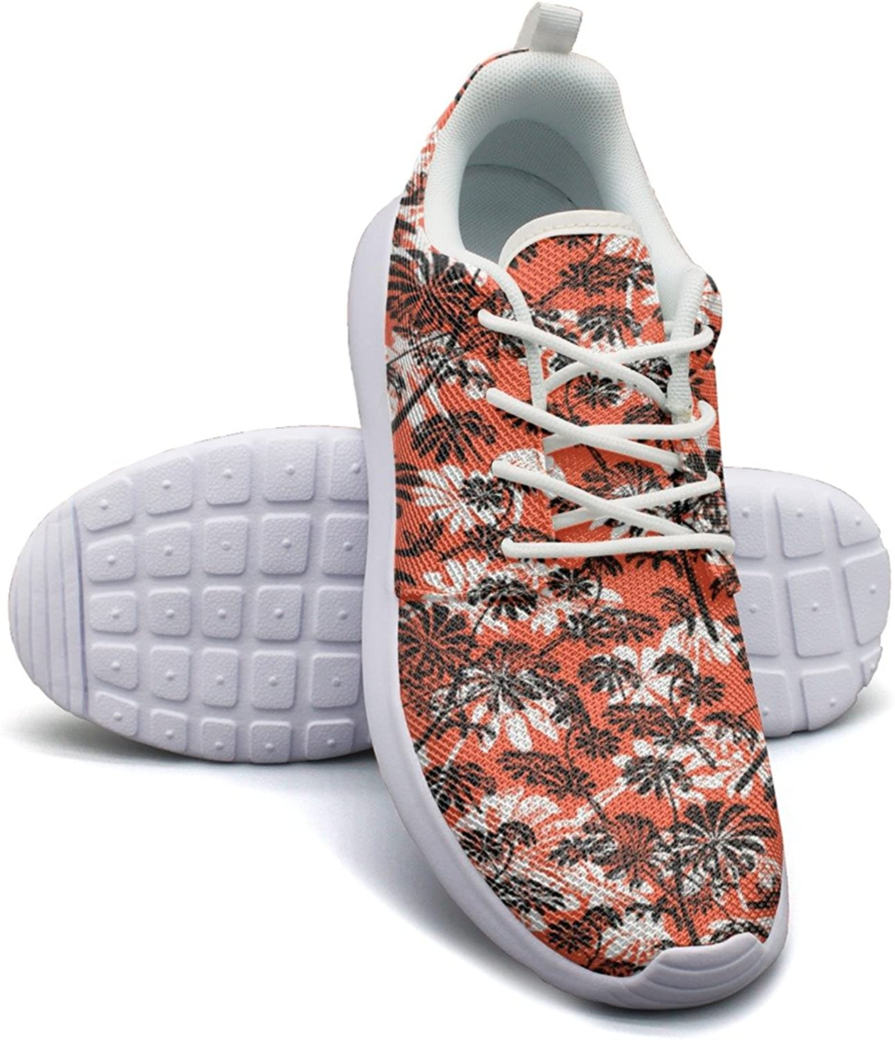 Pattern With Tropical Trees And Leaves Women's Lightweight Mesh Running Sneakers Designer Running shoes