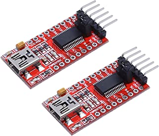 KeeYees FTDI FT232RL USB-TTLシリアル変換アダプターモジュール 赤 5V/3.3V切り替え レッド USB to TTL 2個入り