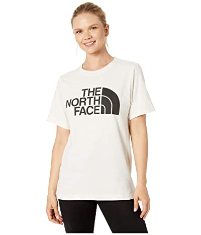 The North Face Short Sleeve Half Dome T-Shirt (Vintage White/TNF Black) Women