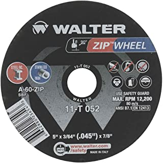Walter 11T052 5x3/64x7/8 High Performance Zip Wheels Type 1 A60 Grit, 25 pack