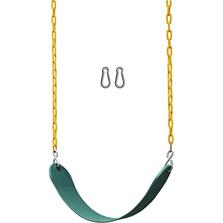 Jungle Gym Kingdom 2 Pack Swings Seats Heavy Duty 66 Chain Plastic Coated Playground Swing Set Accessories Replacement Snap Hooks Green Toys Games