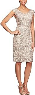 Alex Evenings Women's Short Embroidered Dresses