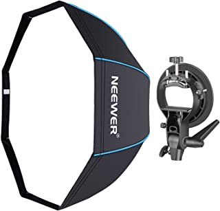 Neewer 48 inches/120 Centimeters Octagonal Softbox with Blue Edges, S-Type Bracket Holder (with Bowens Mount) and Carrying Bag for Speedlite Studio Flash Monolight, Portrait and Product Photography