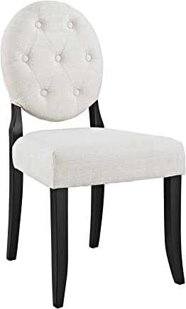 Modway Button Dining Side Chair,  Beige