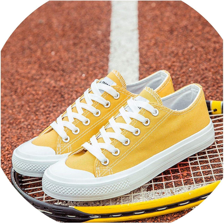 Biu-biu fashion-sneakers Classic Canvas shoes Women Flats Spring Black White Green Yellow Casual Sneaker Round Toe