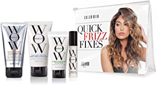 COLOR WOW Quick Frizz Fixes! Travel Kit Includes Shampoo, Conditioner, One Minute Transformation Styling Cream, Pop & Lock...
