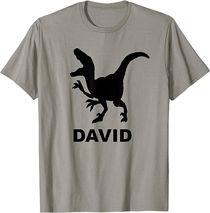 David Name T Rex T-shirt Black Dinosaur