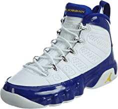 Nike Boys Air Jordan 9 Retro BG Kobe Bryant White/Tour Yellow-Concord Leather Size 5.5Y