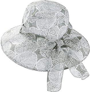 2f6cf5615b5 Fashion Bowknot Wedding Fedora Summer Women Organza Gauze Large Wide Brim  Sun Hat Church Hat