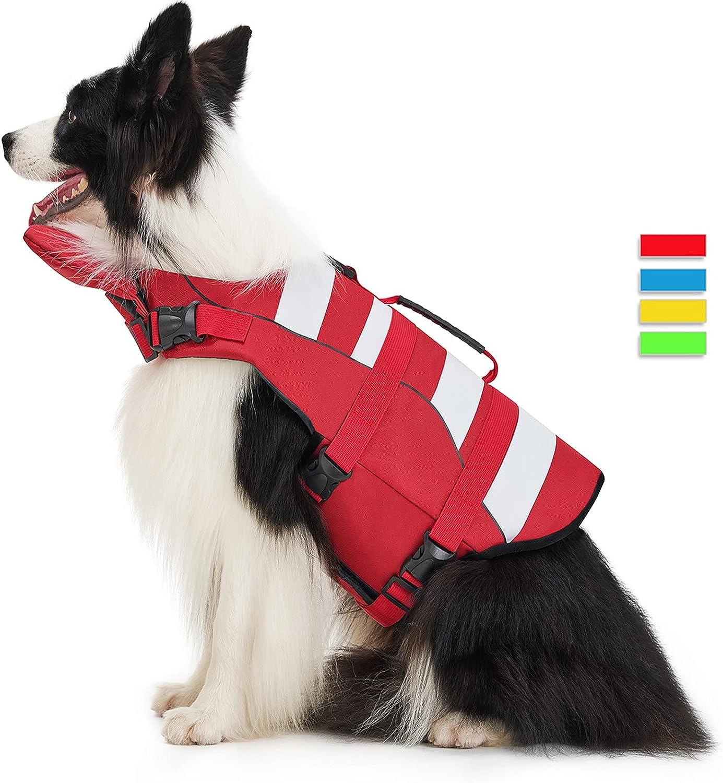 Max 76% OFF Dog Life Jacket Pet Vests Safety Adjustable Quality inspection for Water