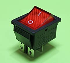 Red Light On off AC Rocker Switch 250V 15 AMP 125V 20A DPST 4 lug terminals