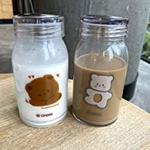 Cute Flaming Glass Cartoon Thickened Heat-Resistant Water Cup Korean Male and Female Students Couple Casual Cup