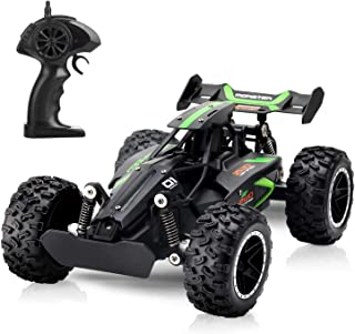 Tobeape G03063R 1:18 Scale 2.4Ghz Remote Control Car, 15-20 km/h High Speed RC Car 2 Lithium Rechargeable Batteries, Elect...